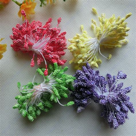decorative flowers for home free shipping fall wholesale 2mm stamens multicolor plastic flower stamen home