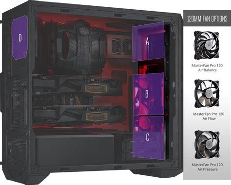 Cooler Master Masterbox 5 masterbox 5 black with meshflow front panel b2b