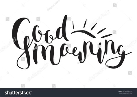 vector quote good morning motivational quote stock vector  shutterstock