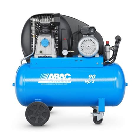 abac pro a39b 90 cm3 b312 100 belt drive air compressor 3hp 90 litre 14 cfm air supplies uk