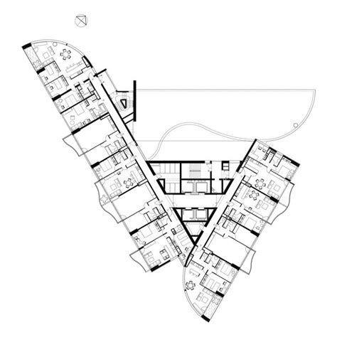 triangular floor plan 1000 images about triangle plan on pinterest