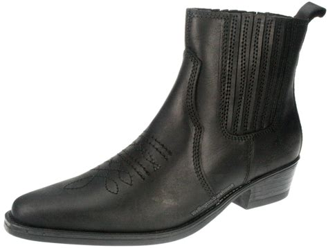 pointy boots wrangler tex mid black leather pull on mens cowboy pointy