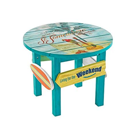 Margaritaville Outdoor Wood Side Table In