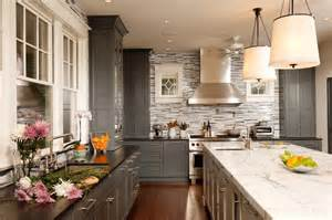 Houzz Painted Kitchen Cabinets Gray Painted Cabinets By Greenfield Cabinetry Chicago Il Traditional Kitchen Chicago
