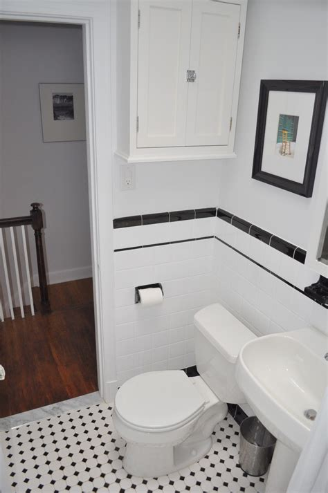 Black And White Tiled Bathroom Ideas Popular Materials Of White Tile Bathroom Midcityeast