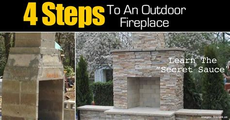 4 steps to make an outdoor fireplace