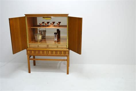 carved bar cabinet carved bar cabinet with mirror by eugen h 246 glund 1956 for