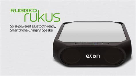 eton rugged rukus the solar powered bluetooth ready smartphone charging speaker rugged rukus by eton corp