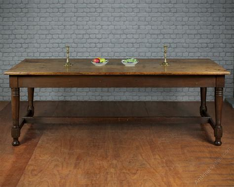 large 19th c pine kitchen dining table c 1880 antiques