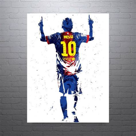 Football Artwork Messi 1 lionel messi barcelona soccer poster sports print