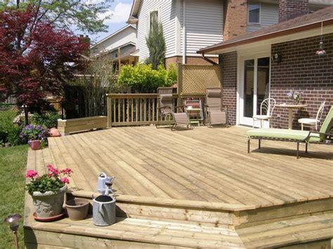 deck level with patio door