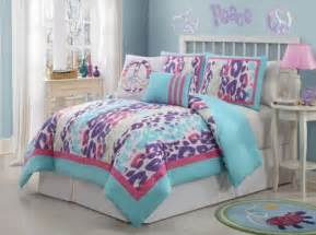 kids bedding sets girls twin full girls kids blue purple pink white animal print