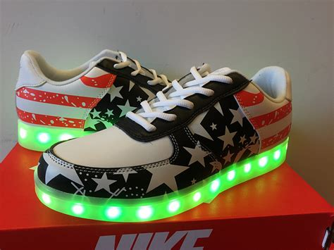 nike air 1 low light up independence day american flag nike shoes 688 sale