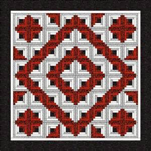 items similar to new log cabin fab 5 quilt pattern free