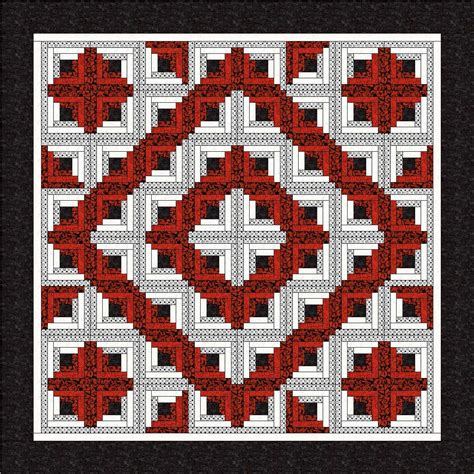 Free Log Cabin Quilt Patterns by Items Similar To New Log Cabin Fab 5 Quilt Pattern Free