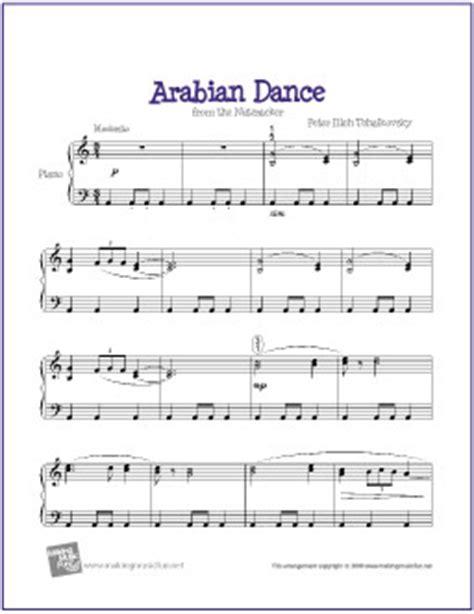 arabian dance (tchaikovsky)   free easy piano sheet music
