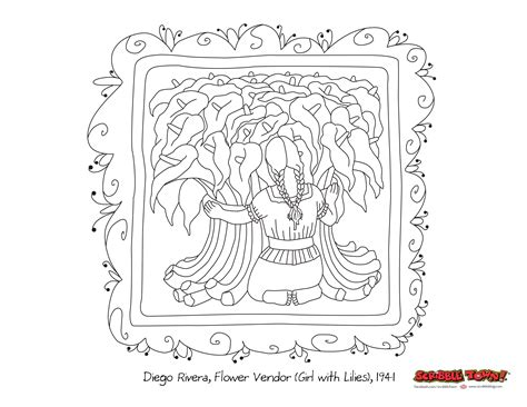 Scribble Blog Inspiring Creativity 187 Diego Rivera Diego Rivera Coloring Pages