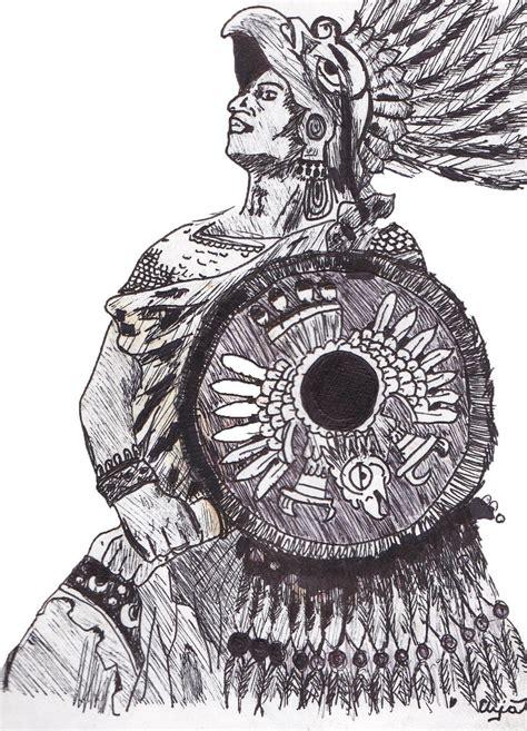 Aztec Warrior Sketches Aztec Warrior By Jeollo On Deviantart