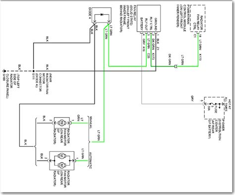 what is diode fuse how it is working cooling fan does not work check fuse and change relay on 1999 plymouth neon