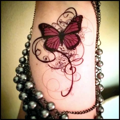 elegant butterfly tattoo designs temporary butterfly swirls