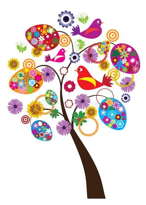 clipart pasqua albero di pasqua illustrazione vettoriale illustrazione