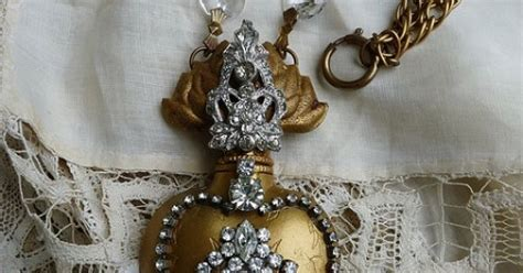 pin by heartsabound on bisque just what color is it ex voto sacred heart with antique paste and chandelier