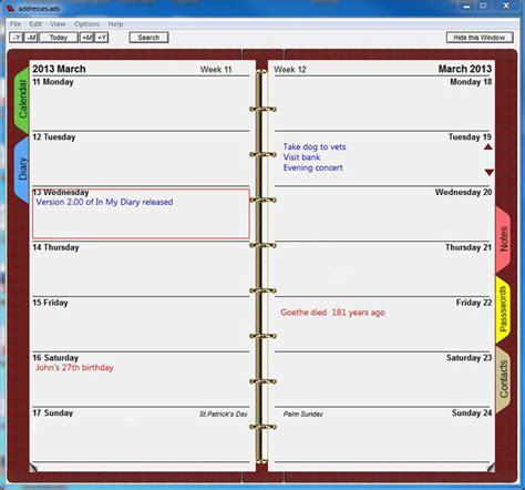 in my diary 3 70 free download freewarefiles com