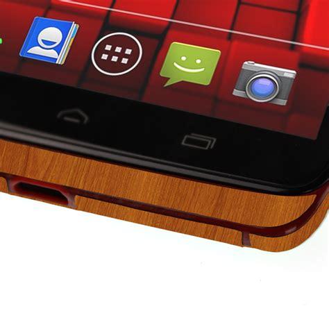 Droid Light by Skinomi Techskin Motorola Droid Ultra Light Wood Skin Protector