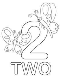 color me 2 number 2 coloring page for bulk color inside