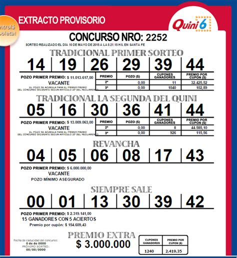 Resultados Del Quini 6 Del Domingo 10 De Febrero De 2013 | resultados del quini 6 del domingo 10 de mayo de 2015