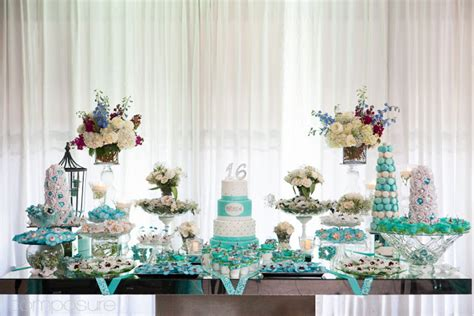 blooming table blue sweet 16