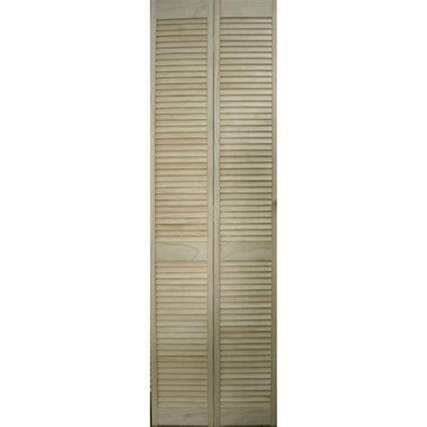 2 portes de placard pliantes persienne bois 205 x 61 cm