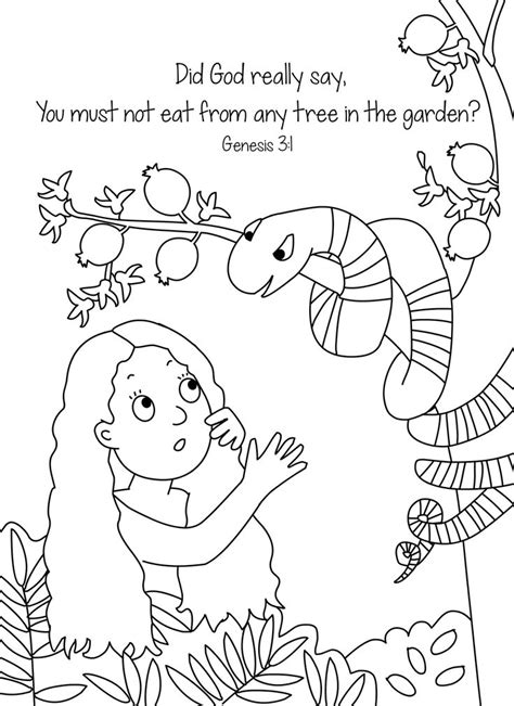 Genesis 3 Coloring Page by 1000 Ideas About Adam And Children On