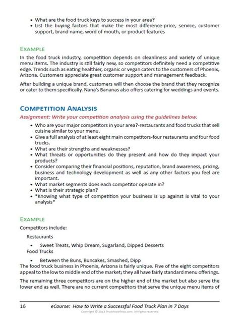 business plan template food truck food truck business plan template template idea