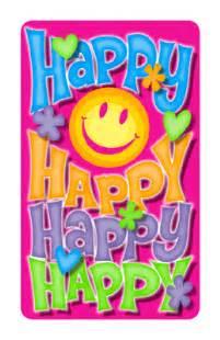 quot happy happy happy quot birthday printable card blue
