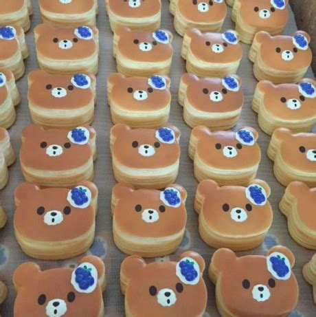 Squishy Licensed Box Shop Blueberry Original mini blueberry pancake squishy by puni maru