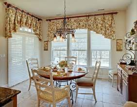 Bow Window Treatment dining room country cottage decorating ideas french