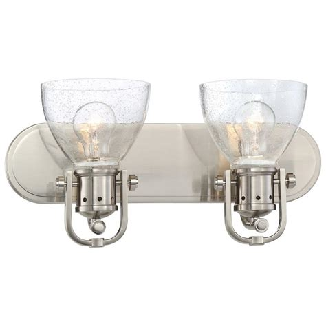 Minka Lavery 2 Light Brushed Nickel Bath Light 3412 84 Minka Lavery Bathroom Lighting