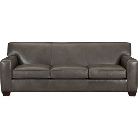 Grey Leather Sleeper Sofa with 403 Forbidden