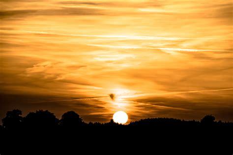 wallpaper sunset golden sky hd  nature