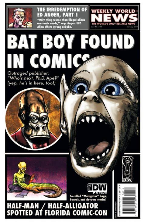 news current events magazines comic world led by bat boy weekly world news deranges comics wired
