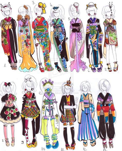 kimono pattern layout kimono designs 2 closed by guppie adopts on deviantart