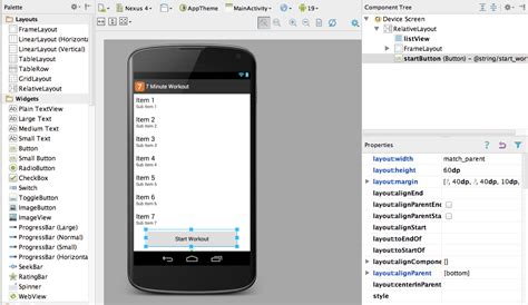android studio layout width android development tips for ios devs