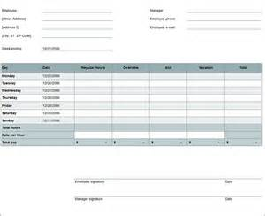 time card excel template free weekly timesheet template
