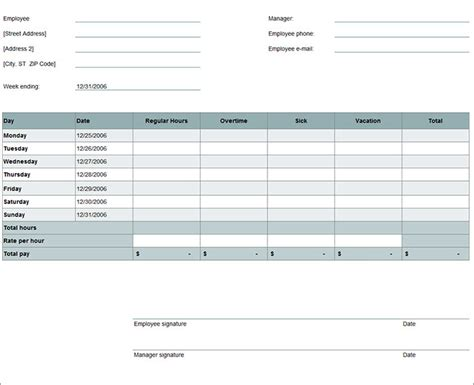 printable timesheet calculator time card excel template free weekly timesheet template