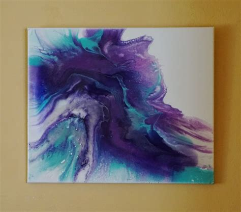 how to pour acrylic paint on canvas resin and acrylic pour painting on canvas mixed media modern