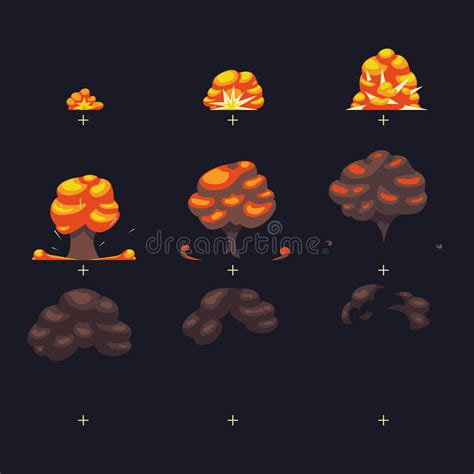 vector sprite tutorial vector explosion war game blast fx animation frames