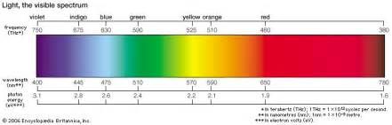 colors of the visible spectrum how many colors are really in a rainbow starts with a