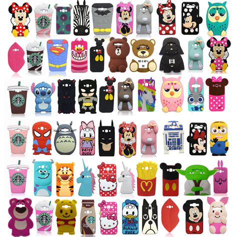 Silicone Rubber 3d Toys Samsung S4 S5note 3 4 Iphone 6 3d soft silicone rubber back cover for