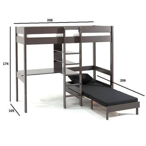 lits mezzanine chambre literie lit mezzanine avec